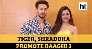 Tiger Shroff, Shraddha Kapoor promote Baaghi 3, film to release on March 6 [Video]