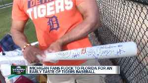 Michigan fans flock to Florida for an early taste of Tigers baseball [Video]