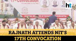 'Terrorists aren't uneducated...': Rajnath Singh at NIT convocation ceremony [Video]