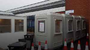 Coronavirus assessment pods appear outside Derbyshire hospital [Video]