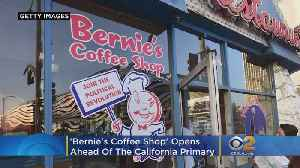 Johnie's Coffee Shop To Reopen As 'Bernie's Coffee Shop' Ahead Of CA Primary, Hosts Dem Debate Watch Party [Video]