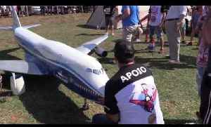 Radio Controlled Aircraft's Wing Breaks Mid Air Making Plane Crash on Ground [Video]