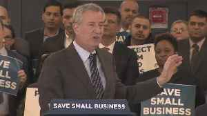 Mayor de Blasio Unveils Plan To Help Small Businesses [Video]