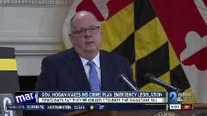 Governor Hogan makes his crime plan emergency legislation [Video]