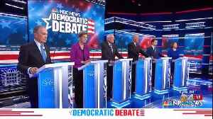 News video: Democratic Presidential Candidates Back On Campaign Trail After Trading Barbs At Debate