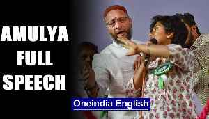 What Amulya said at anti-CAA rally. Listen to her full speech | OneindiaNews [Video]