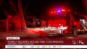 Family Escapes House Fire, Dog Still Missing [Video]