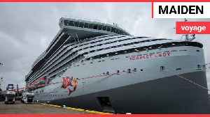 Sir Richard Branson launches Virgin Voyages' first ship, Scarlet Lady [Video]