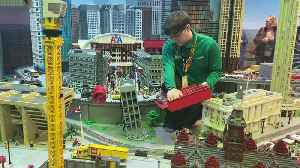 VIDEO: Getting LEGO Leaning Tower Of Dallas Ready [Video]
