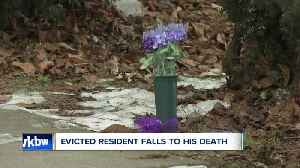 Evicted resident falls to his death [Video]