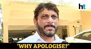 News video: AIMIM's Waris Pathan refuses to apologise after controversial remark