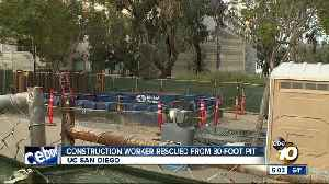 Crews rescue man who fell into 30-foot trench at UCSD [Video]