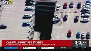 Vehicle Falls Off Parking Structure Near Beverly Center, 2 People Injured [Video]
