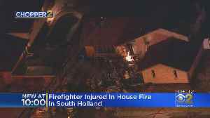 Firefighter Injured In South Holland Blaze [Video]