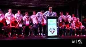 World Series Champions Washington Nationals at Clematis by Night [Video]