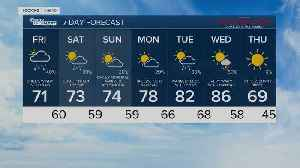 Latest Weather Forecast: Friday 5 a.m. [Video]