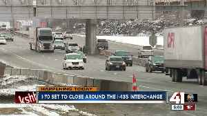 I-70 set to close around the I-435 interchange [Video]