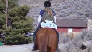 Canvassers Take to Horseback in Support of Bernie Sanders Ahead of Nevada Caucus [Video]