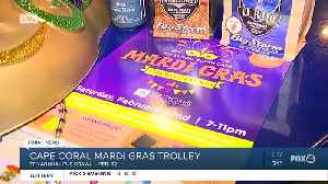 Mardi Gras trolley stop at Big Storm Brewery [Video]
