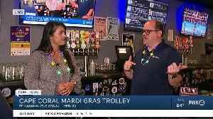 Mardi Gras trolley pub crawl to Big Storm Brewery [Video]