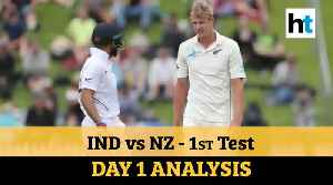 News video: India Vs NZ 1st Test: Virat's men on the backfoot; Jamieson shines on debut