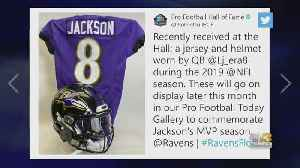 Lamar Jackson Jersey, Helmet To Be Displayed At Pro Football Hall Of Fame [Video]