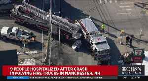9 Hurt After Fire Trucks, Pick Up Truck Collide In Manchester NH [Video]
