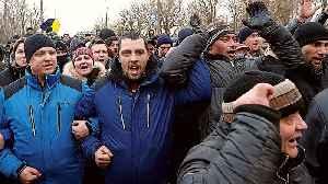 Ukrainians protest over coronavirus evacuees