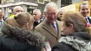 Prince Charles visits flooded Welsh town [Video]