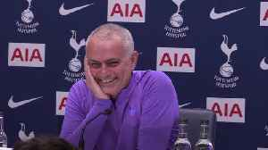 Jose Mourinho gets the giggles when asked about Harry Kane [Video]