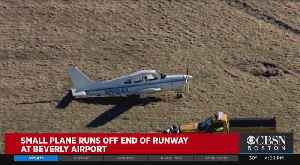 Airplane Lands Off The Runway At Beverly Airport [Video]