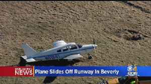 Airplane Slides Off The Runway At Beverly Airport [Video]
