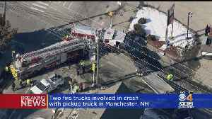Manchester, NH Firefighters Injured After Trucks Crash [Video]
