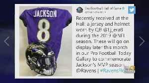 Lamar Jackson Jersey, Helmet To Be Displayed Inside NFL Hall Of Fame [Video]