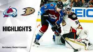 NHL Highlights   Avalanche @ Ducks 2/21/20 [Video]
