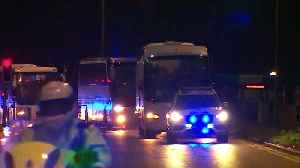 Diamond Princess evacuees arrive at Arrowe Park Hospital