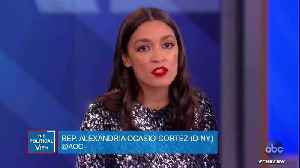Ocasio-Cortez On Criticism Of Her Dress On 'The View': 'I Rent, Borrow, And Thrift My Clothes' [Video]