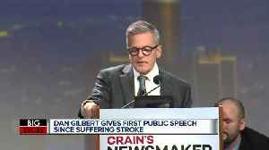 Dan Gilbert gives first public speech since stroke [Video]
