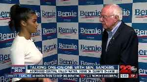 Talking one on one with Sen. Sanders in Bakersfield [Video]
