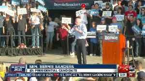 Sen. Sanders Holds Rally In Bakersfield [Video]