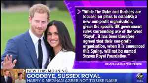 Prince Harry and Meghan Markle will not use 'Sussex Royal' brand [Video]