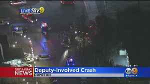 LA County Deputies Involved In Compton Crash, Injuries Reported [Video]