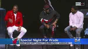 Wade Jersey Retirement Night 1 Kicks-Off [Video]