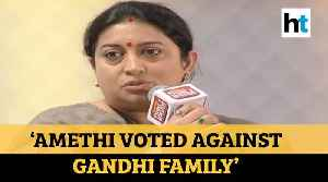'People of Amethi voted against Gandhi family': Smriti Irani on 2019 victory [Video]