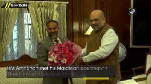 Amit Shah meets his Maldivian counterpart in Delhi [Video]