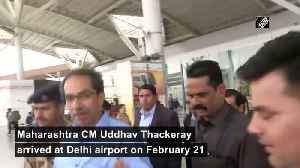 CM Thackeray arrives in Delhi to meet PM Modi Sonia Gandhi [Video]