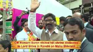Hemant Soren offers prayers at Ranchi's Pahari Mandir on Maha Shivratri [Video]