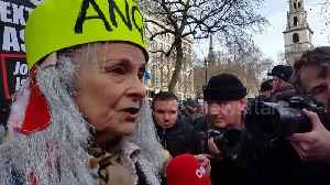 News video: Vivienne Westwood joins Assange supporters in London ahead of extradition trial