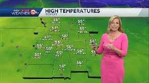 Clouds will increase Saturday, high near 55 [Video]