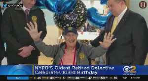 Dozens Of Officers Turn Out To Celebrate 103-Year-Old Retired NYPD Detective [Video]